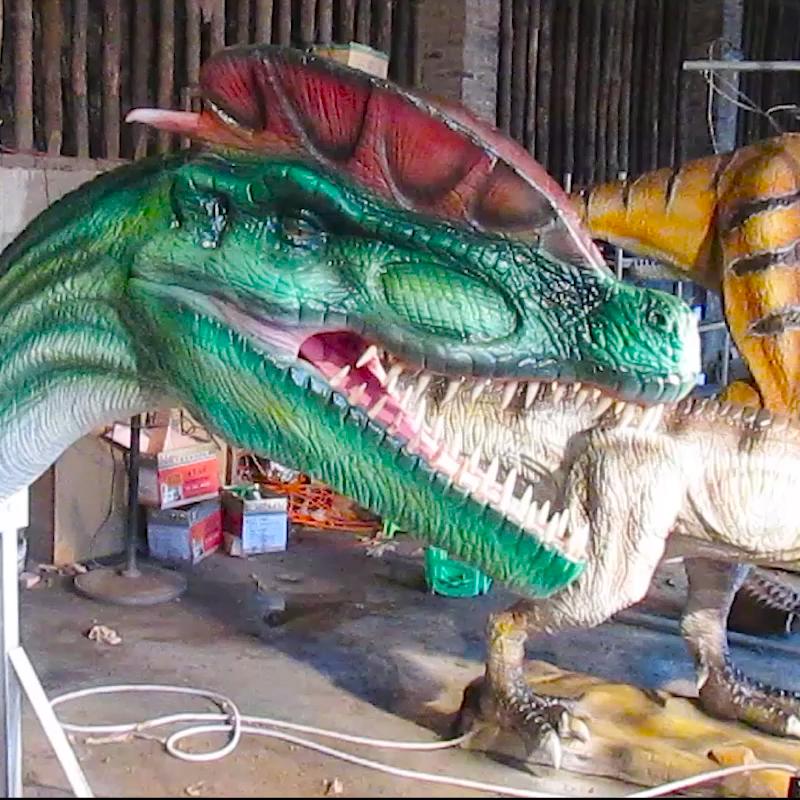 カスタマイズされたロボットアニマトロニック壁掛け恐竜ヘッド