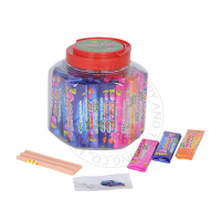 Tattoo Stick Tutti-frutti Bubble Gum in Square Bottle for Kids