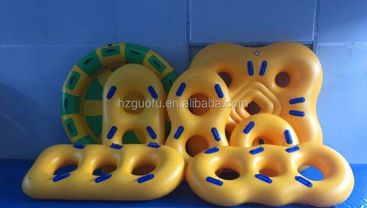 Factory Price Customized Crazy Sports 1 2 3 4 Rider Inflatable Water Park Slide Tube Equipment