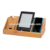 Bamboo Wood Mobile Phone Charging Station Desktop Organizer