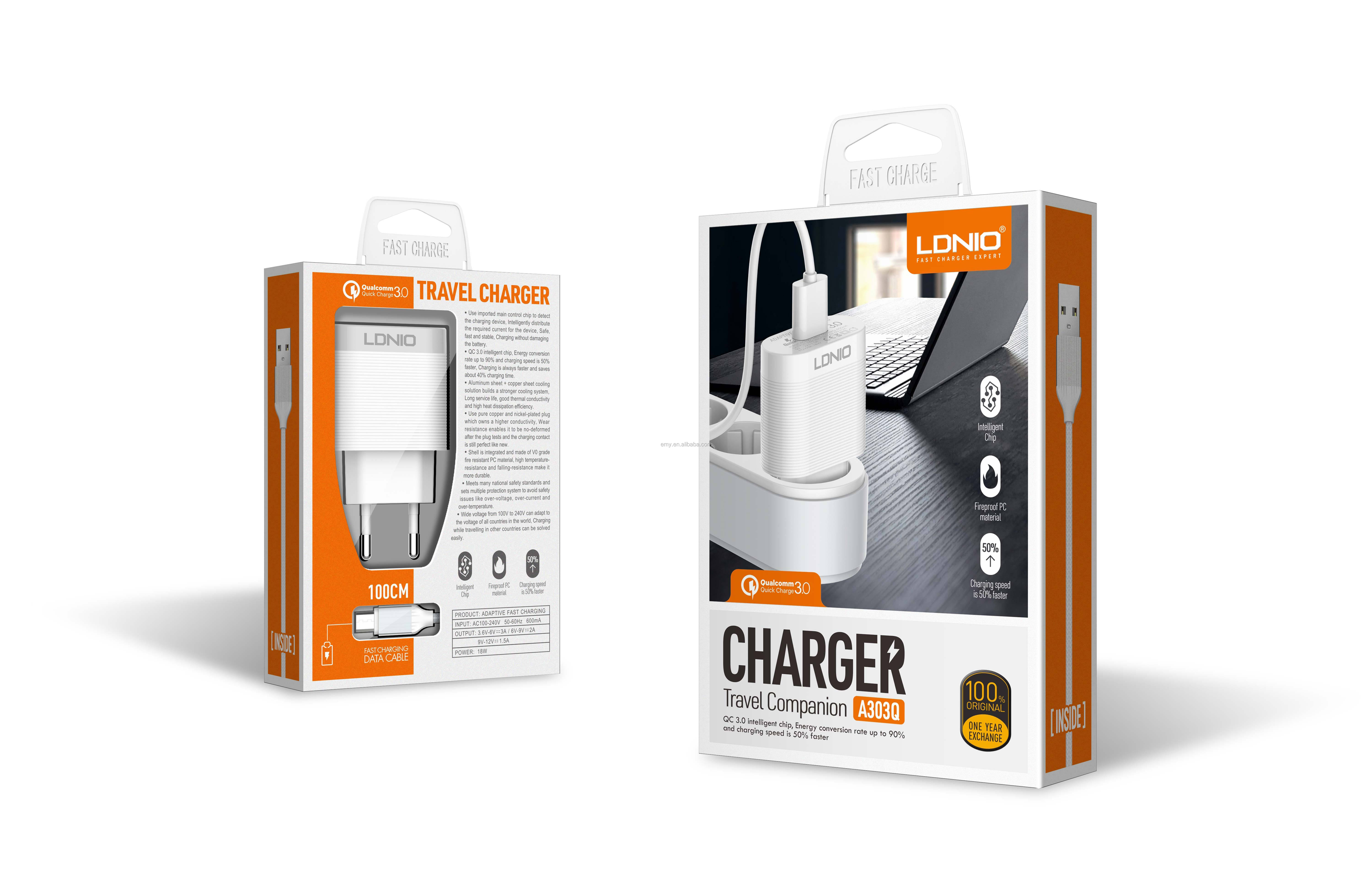 LDNIO 18W Fast Charge QC3.0 Qualcomm Quick Charge  USB Charger home charger usb multi charger factory outlets supply