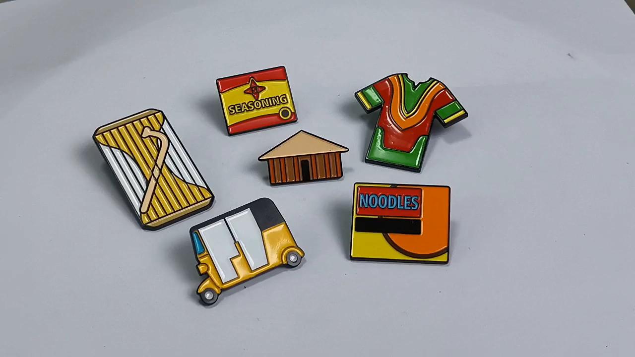 Oneway Zhongshan Manufacture custom pins custom metal soft enamel lapel pins