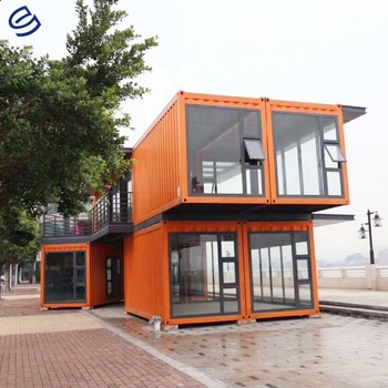 Super low cost prefabricated homes shipping container homes fast build light steel prefab house 2 bedroom prefab house