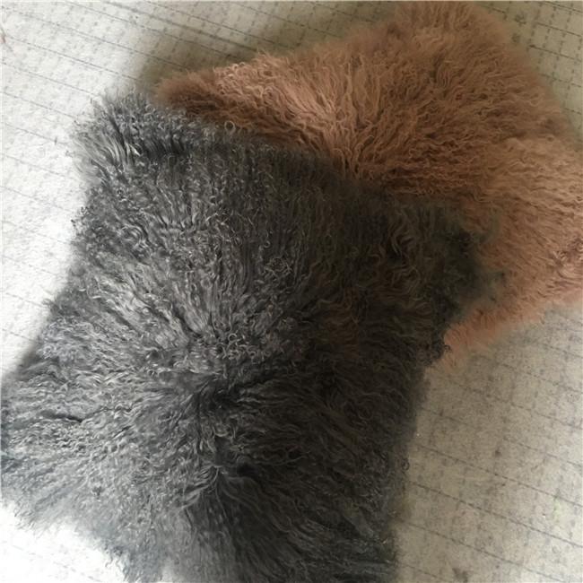 Top grade fur mongolian sheepskin throw