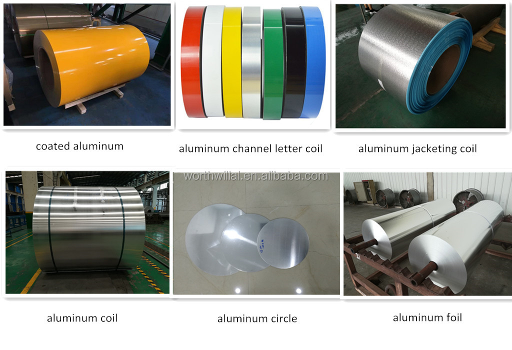 Color coated aluminum coating strip coil for channel letter