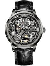 OUPINKE классические мужские ретро часы автоматические механические часы из натуральной кожи водонепроницаемые военные наручные часы(Китай)
