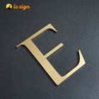 High Quality 3D Metal Brass Door Number Plates And Letters golden number For House