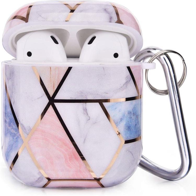 עבור Airpods מקרי, נשים בנות סגנון מגן קשיח Case כיסוי נייד 3 ב 1 חמוד השיש עבור airpods אבזרים
