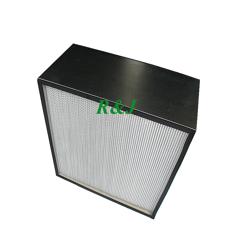 Fiberglass paper hepa air filter box for industrial filtration