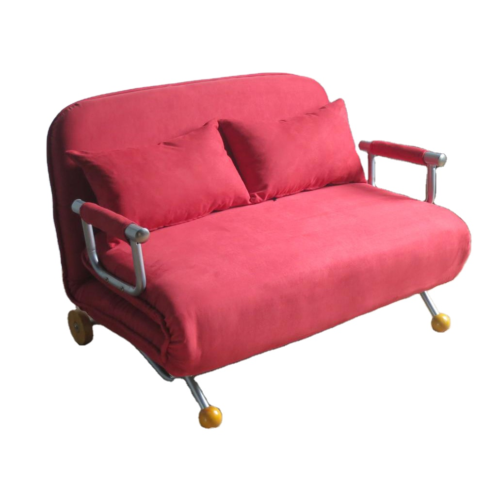 Fabric 2 Seater Futon Sofa Sleeper