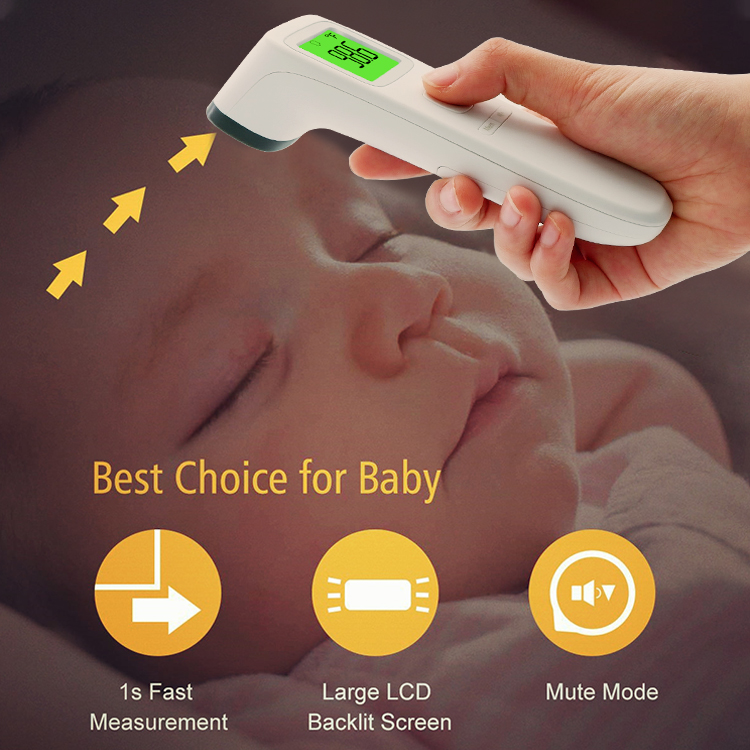 Healthy medical manufacturer top non contact clinical digital infrared thermometer newborn baby FC-IR2000