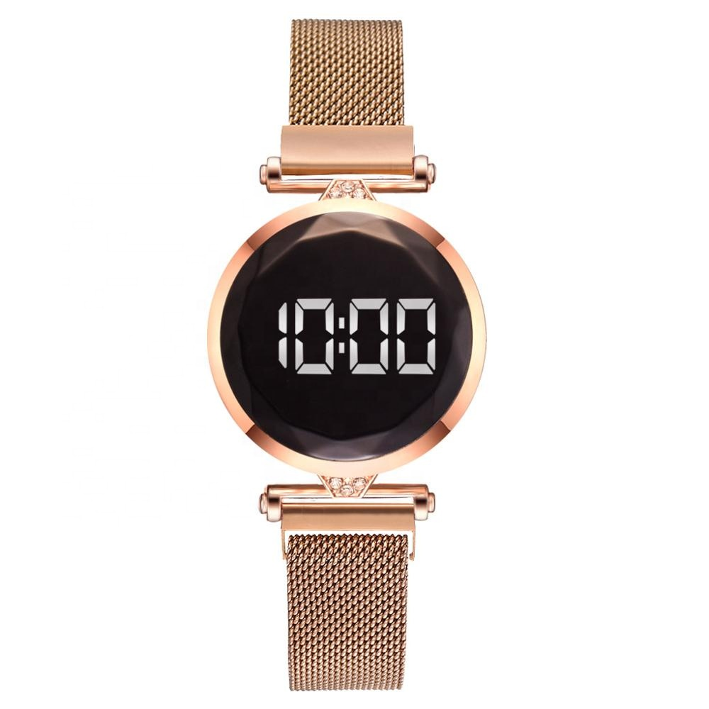 2020 Hot LED Display Ladies Touch Watch Adjustable Strap Magnet Watches Student Touch Screen Wristwatch TW591