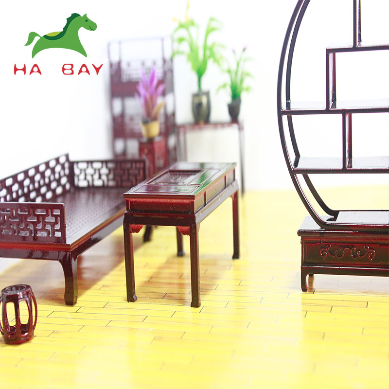 Popular Selling Miniature Scale Chairs Architectural Model Sofa Chinese Style Furniture Model