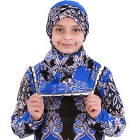 Wholesale kids muslim clothing african design dresses long sleeves kids abayas girls