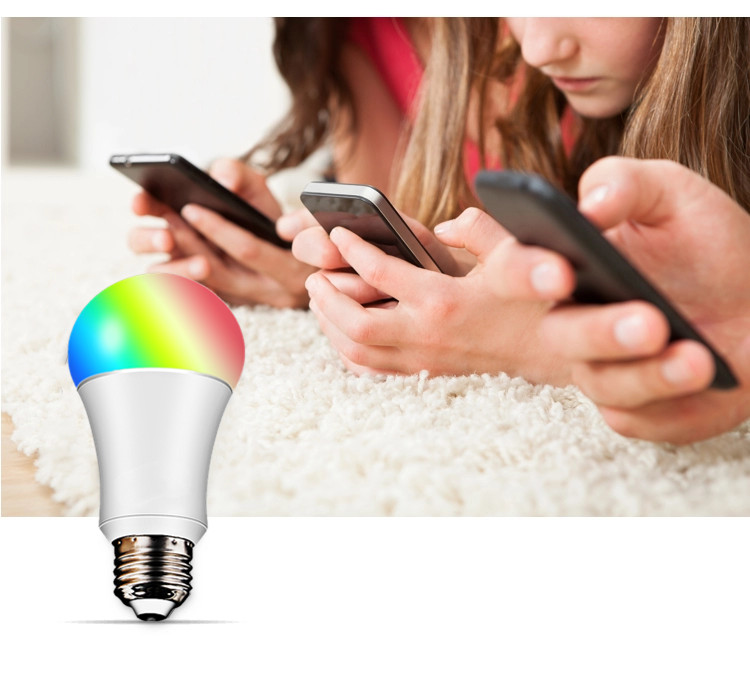 Tuya Xenon B22 E27 bulb 6W 8W wifi smart RGBW bulb Control Via Smart Life App Work With Alexa