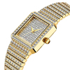RTS Luxury Brand Ladies Gold Square Diamond Watch Minimalist Analog Quartz Movt Unique Female watch
