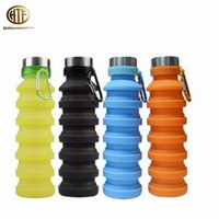 Outdoor 550ml 17.60oz foldable Collapsible expandable portable silicone telescopic cup