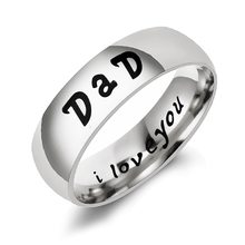 Новая мода золотые буквы папа кольца для мужчин и женщин нержавеющая сталь Семейные кольца персонализированные кольца серебряные Детские ...(Китай)