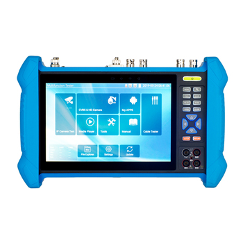KANGXIN hot sale 7'' full function IP camera tester support 4K H.265 video decoding and PTZ control