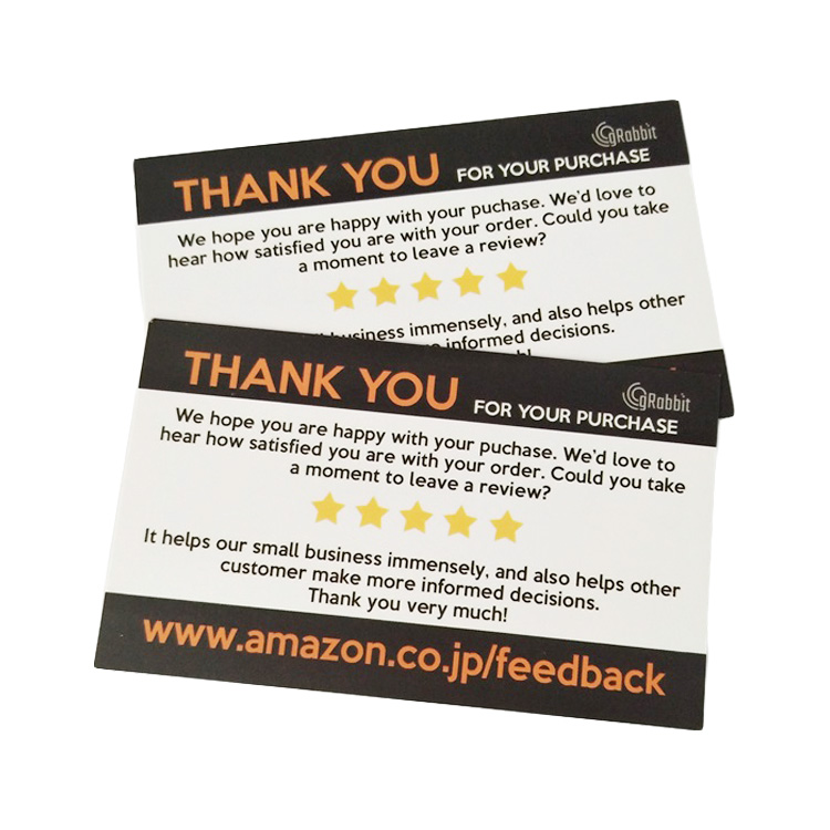 High Quality full color Flyer insert card printing For Amazon products Insert