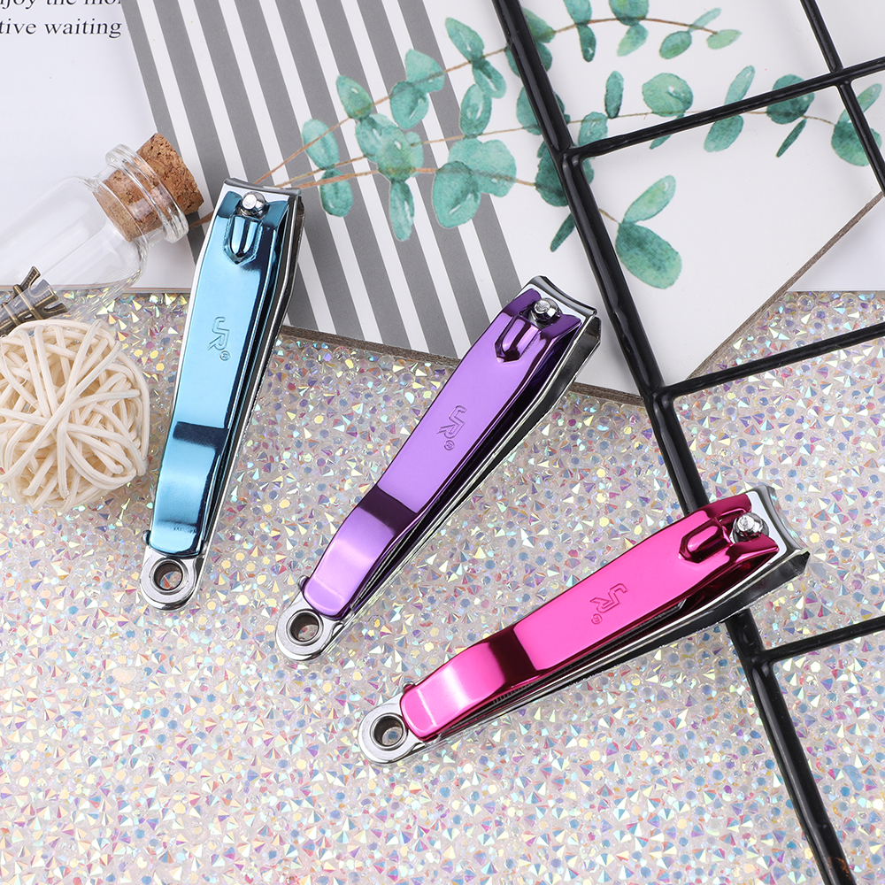 Factory Supply Custom 3 Colors Stainless Steel Toe Finger Straight Cut Nail Nipper Nail Cutter Clipper