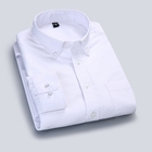 Oxford cotton long sleeve casual formal white mens shirt