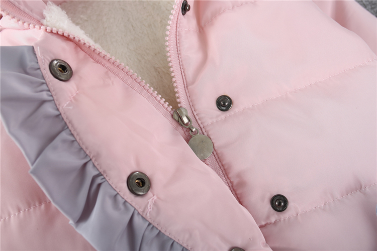 New design High quality lovely Hooded Children Girls Winter Coat Baby kids Overcoat Padded Coats