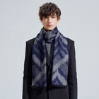 Fashion design brushed pure silk jacquard men scarf with tassels