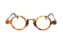 Высококачественные креативные очки из ацетата титана для мужчин и женщин, оптические очки по рецепту с цветной круглой оправой(Китай)