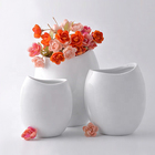 High grade chinese style durable custom size white glazed porcelain flower vase