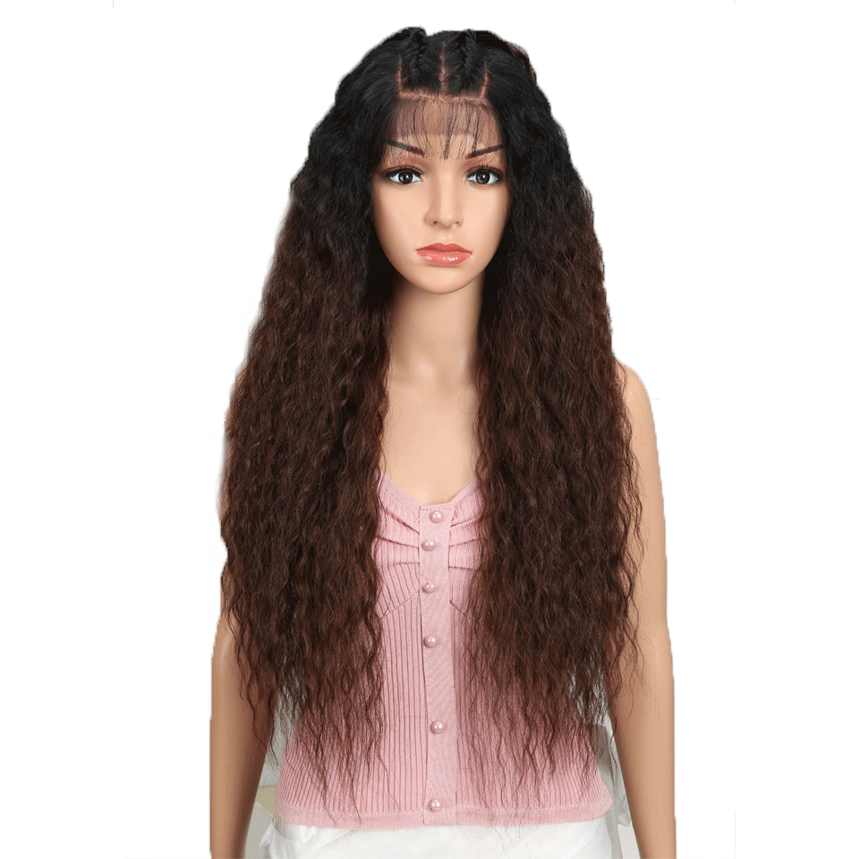 Bohemian Wave Hair <strong>Synthetic</strong> <strong>Lace</strong> <strong>Wig</strong> Indian Water Wave <strong>Lace</strong> Front <strong>Wig</strong> Fluffy Glueless <strong>Full</strong> <strong>Lace</strong> <strong>Wigs</strong> For Black Women Beyo Remy