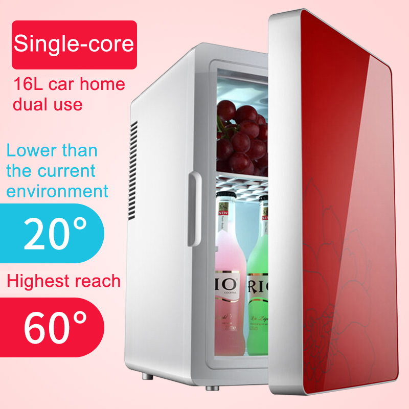 16L Large Capacity Red Blue Colored Makeup Car/Home Fridge Portable Refrigerator for Ladies