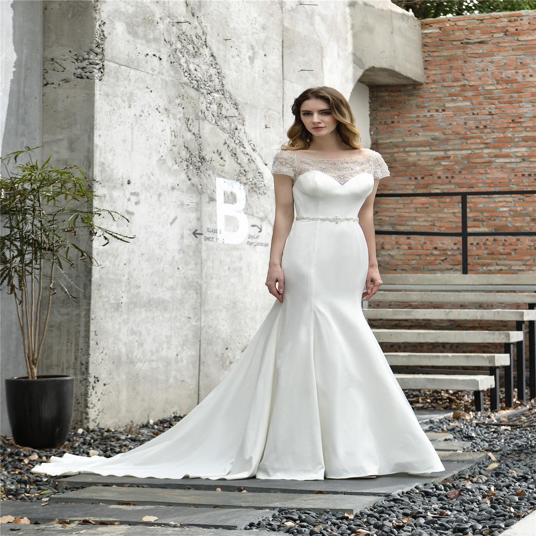 New floral stain beaded wedding dresses  bridal gown vestido de noiva sexy beach wedding dresses  perlage robe de mariage 2020