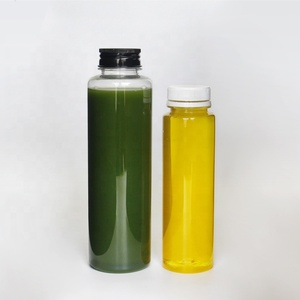Eco friendly juice bottles 500ml clear Cylinder round PET milk bottle clear plastic juice bottle