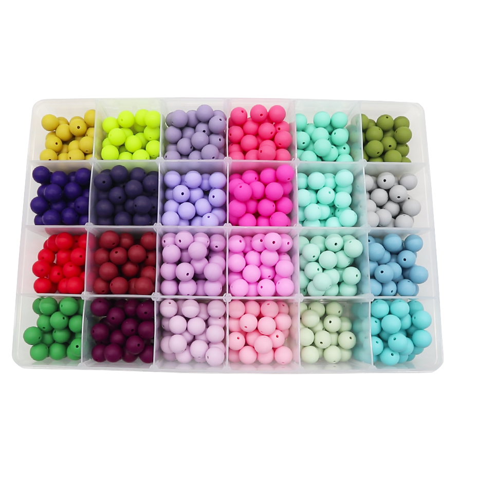 9/12/15/20 mm BPA Free High Quality Silicone Round Teething Beads