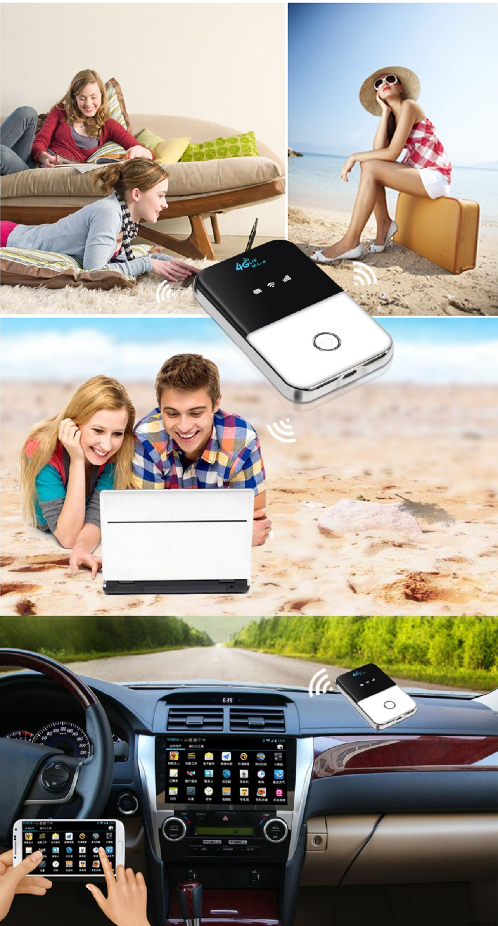 4G Lte Pocket Wifi Router Car Mobile Wifi Hotspot Wireless Broadband Unlocked Modem Router 4G With Sim Card Slot