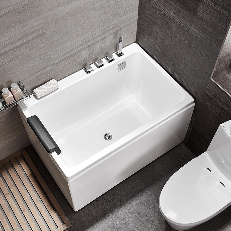 Mini baignoire japonaise petit coin tailles carré acrylique baignoire 1100mm jacuzzi