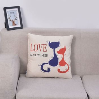 Hot sales gusset pillow case digital cushion cover designer protector