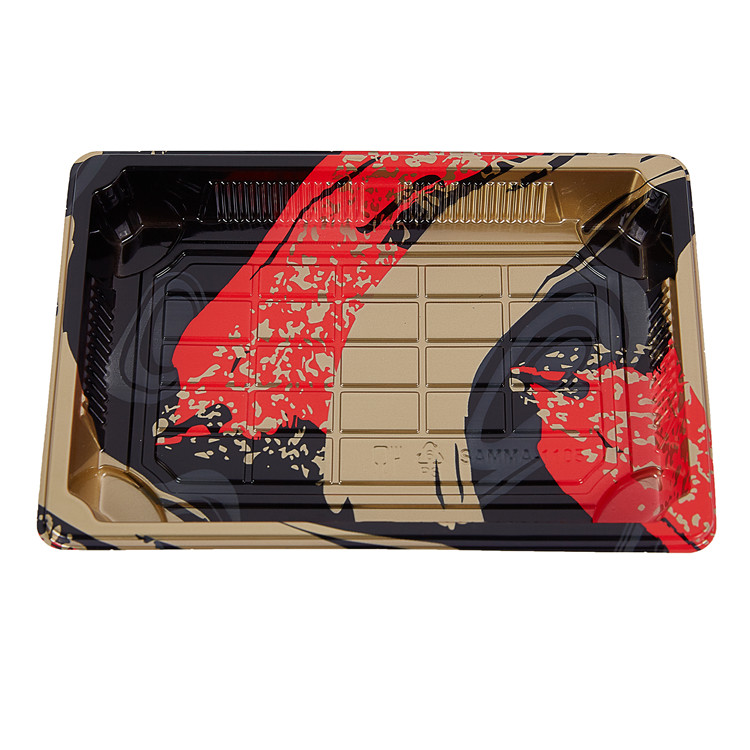 Clear Lid Disposable Plastic Sushi Box