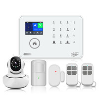 2018 new home house security product WIFI + 3G wireless wired home alarm system with IP camera