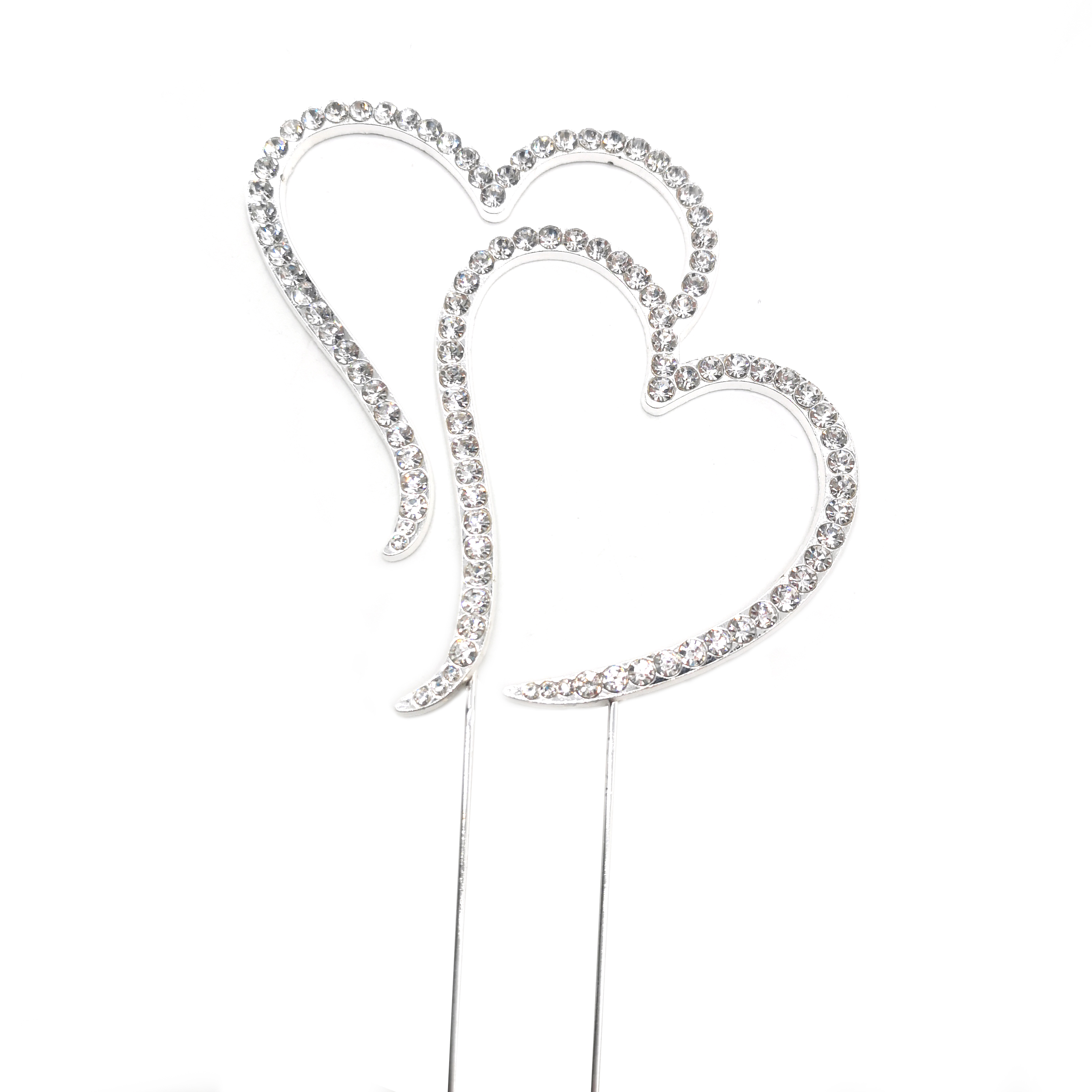 Sparkling Rhinestone Crystal Double Love Heart <strong>Cake</strong> Decoration <strong>Cake</strong> Topper <strong>Wedding</strong> Party Anniversary <strong>Cake</strong> decor <strong>Accessories</strong>