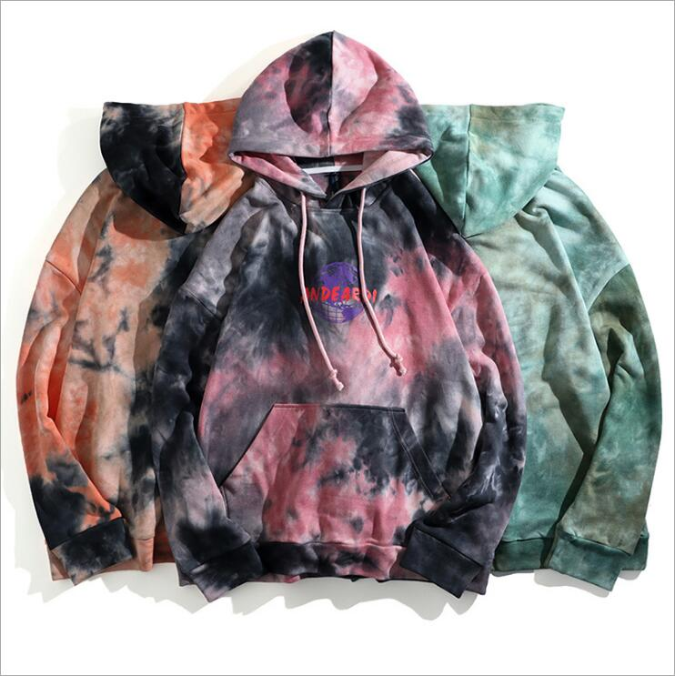 2019 Autumn New Style Men <strong>Hoodies</strong> High Street Casual Pullover Men Graphic Tye Dye <strong>Hoodies</strong>