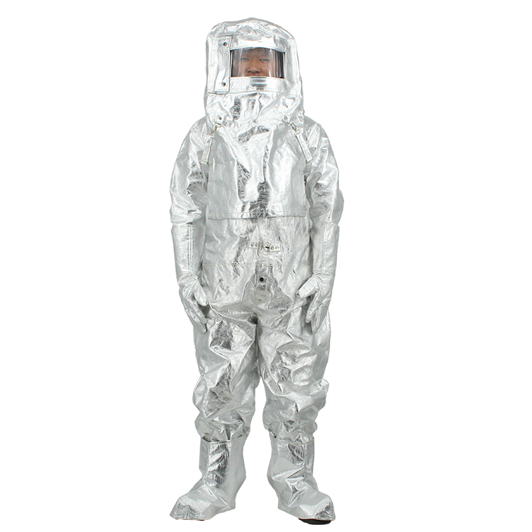 Protective Fireman Firefighting Temperature Resistance Aluminized Nomex Fire Proximity Suit