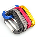 Aviation Aluminum Carabiner D ring Spring Loaded Gatd Caribeaner Clip for Outdoor Camping hook Snap Key Chain KM-002