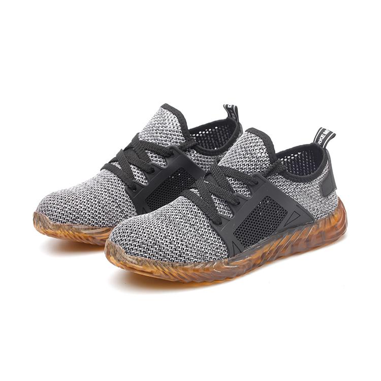 Hohe Qualität Weichen KPU Männer Stahl Kappe Atmungsaktives Jogger Sicherheit Schuhe