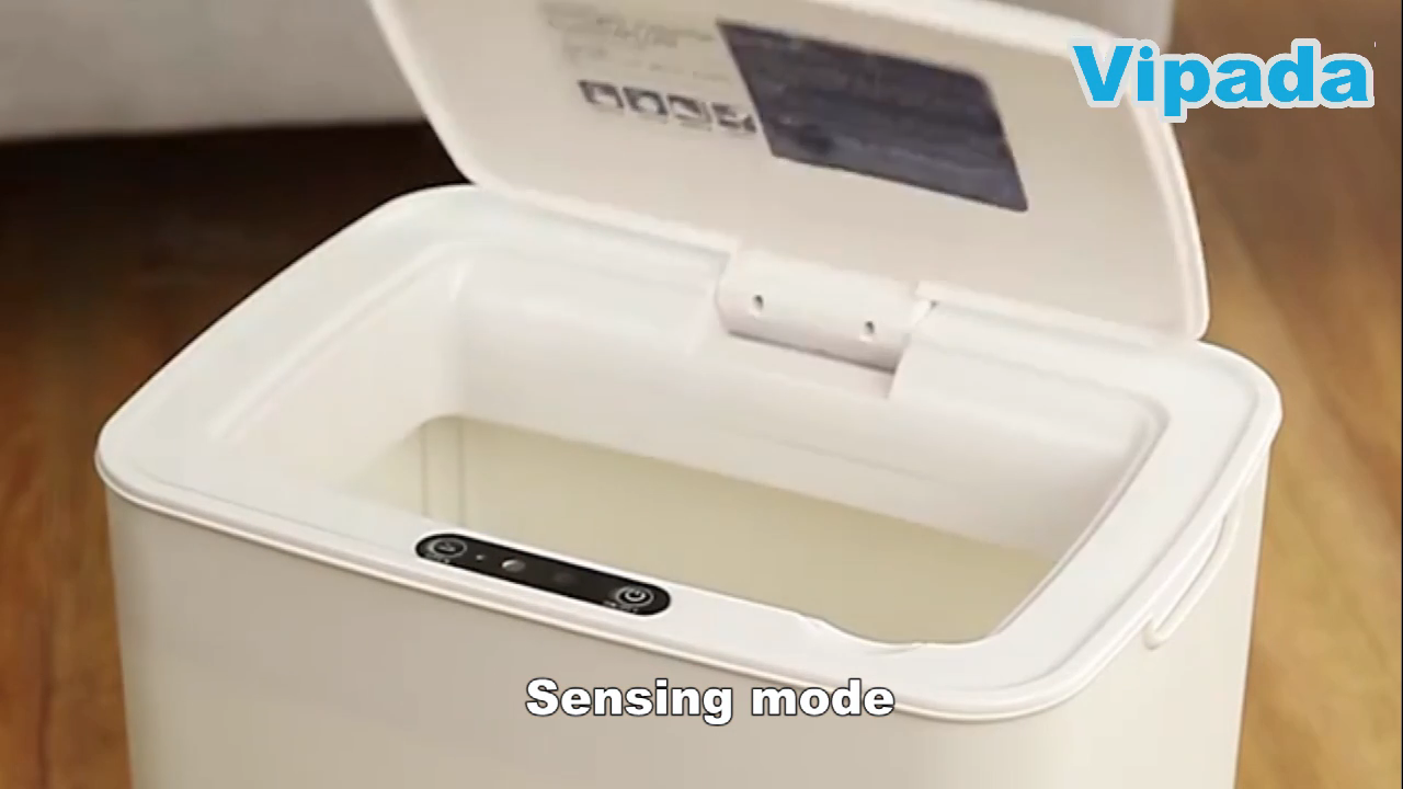 Nuevo sin contacto automático inteligente basura 14 litros residuos basura contenedores de basura de Sensor inteligente de cubos de basura