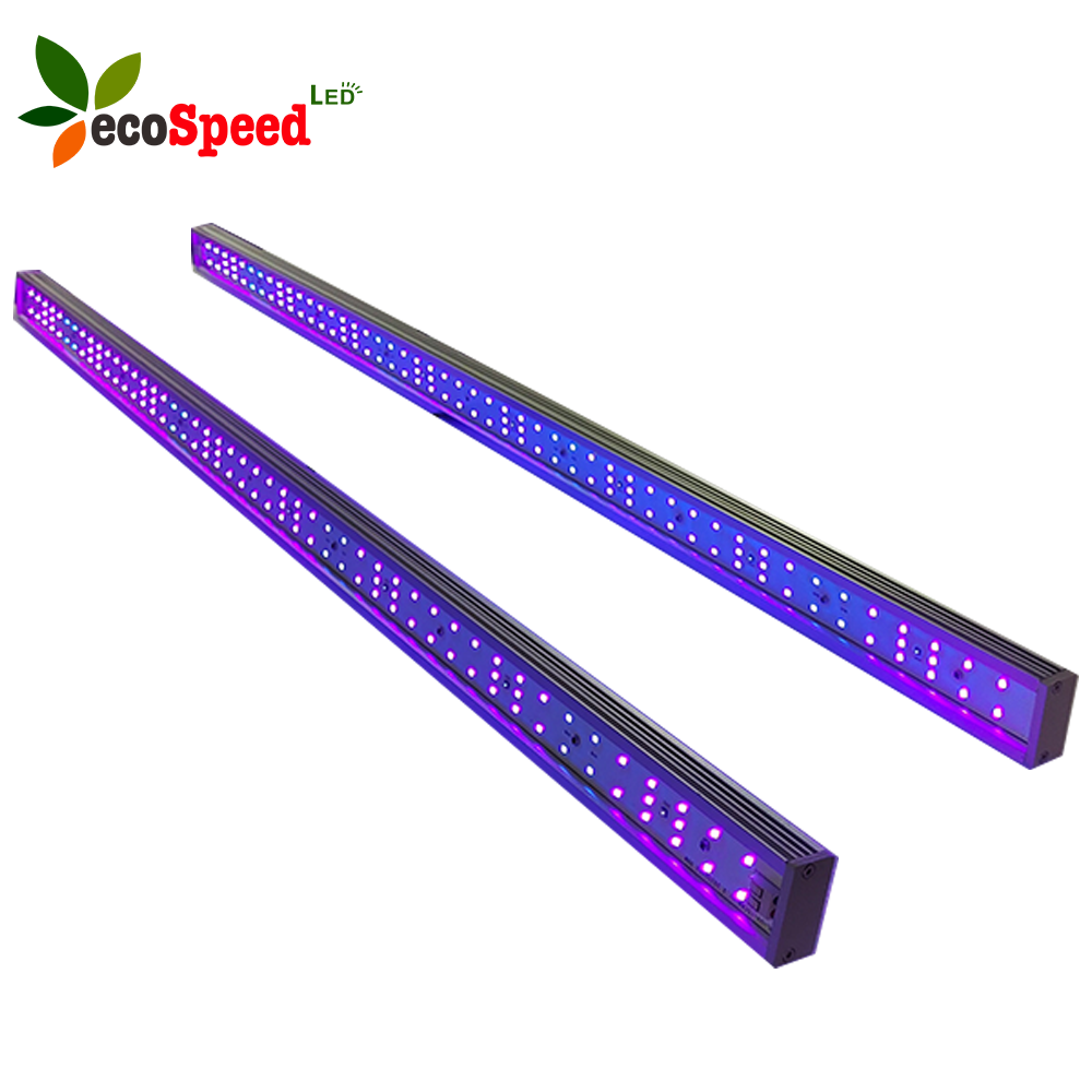 ecospeed Best yield for herb flowering 395nm 365nm 30w uvb 280nm led strip grow light bar with driver /usa Europe plug cable