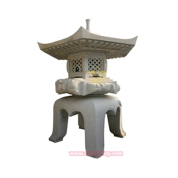 Outdoor Ornament Products Marble Japanese Garden Stone Lanterns