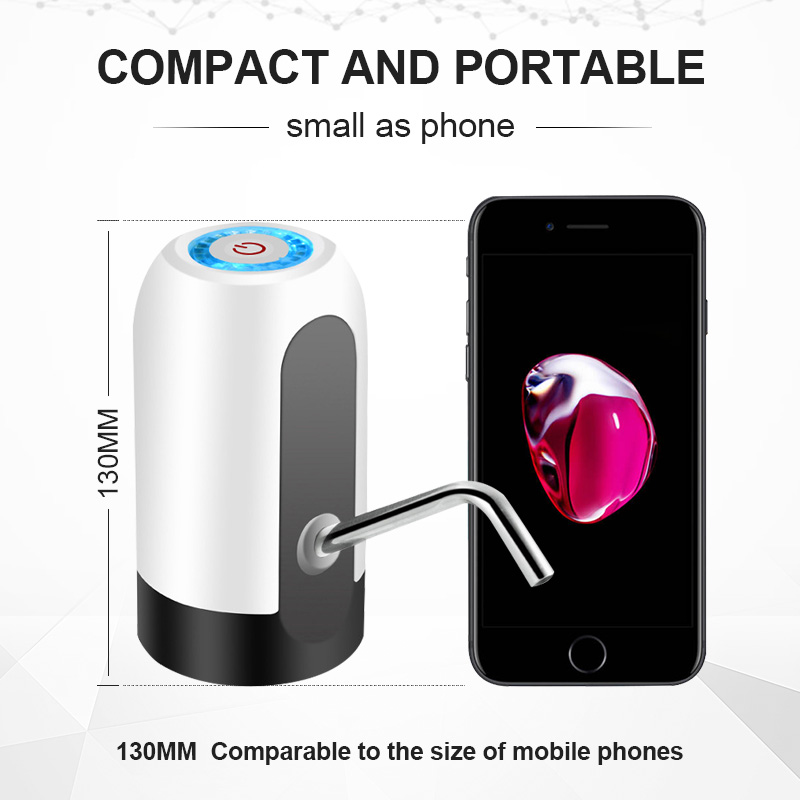 automatic bottle drinking portable mini electric usb rechargeable water pump dispenser