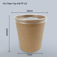 Compostable 8oz/12oz/26oz/32oz kraft paper cup with lid